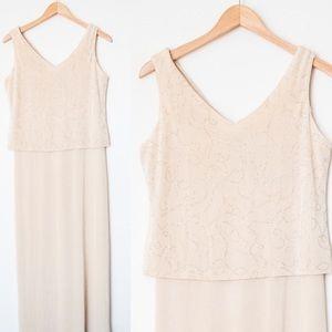 Ronni Nicole | Vintage Champagne Evening Dress